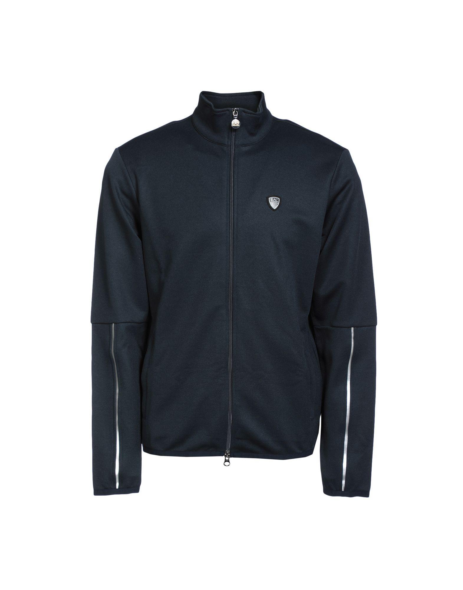 Emporio Armani Sweatshirts In Dark Blue