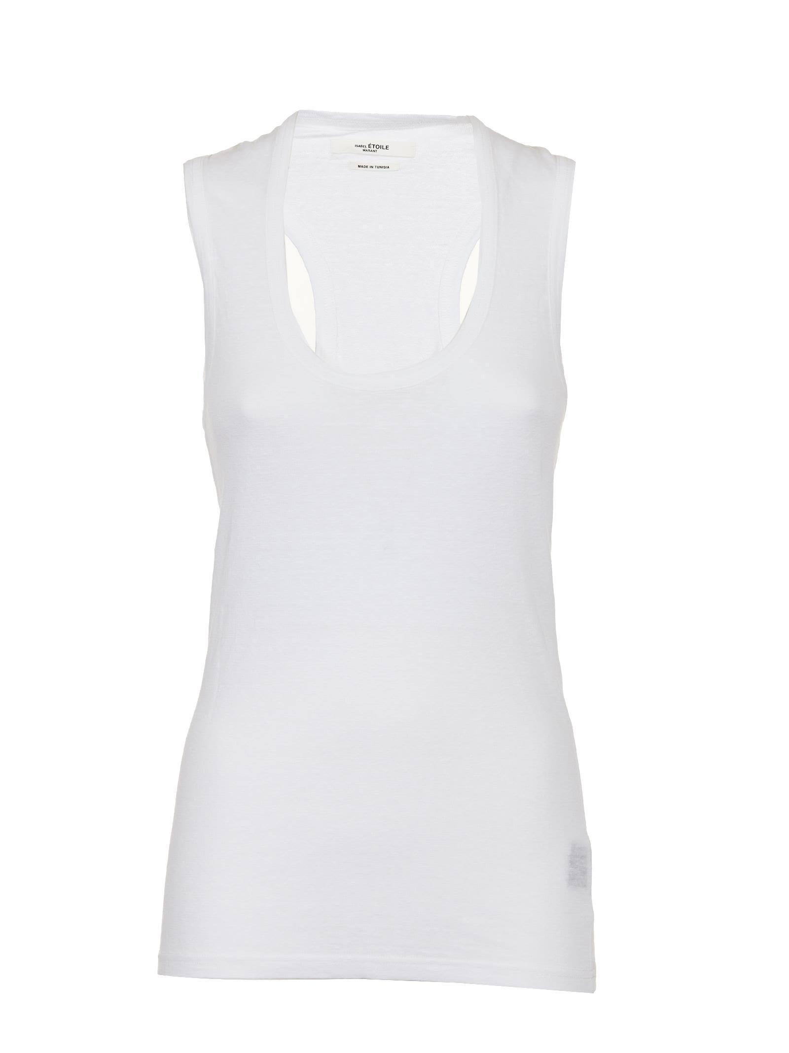 Etoile Isabel Marant Isabel Marant Étoile Koby Tank Top In Bianco