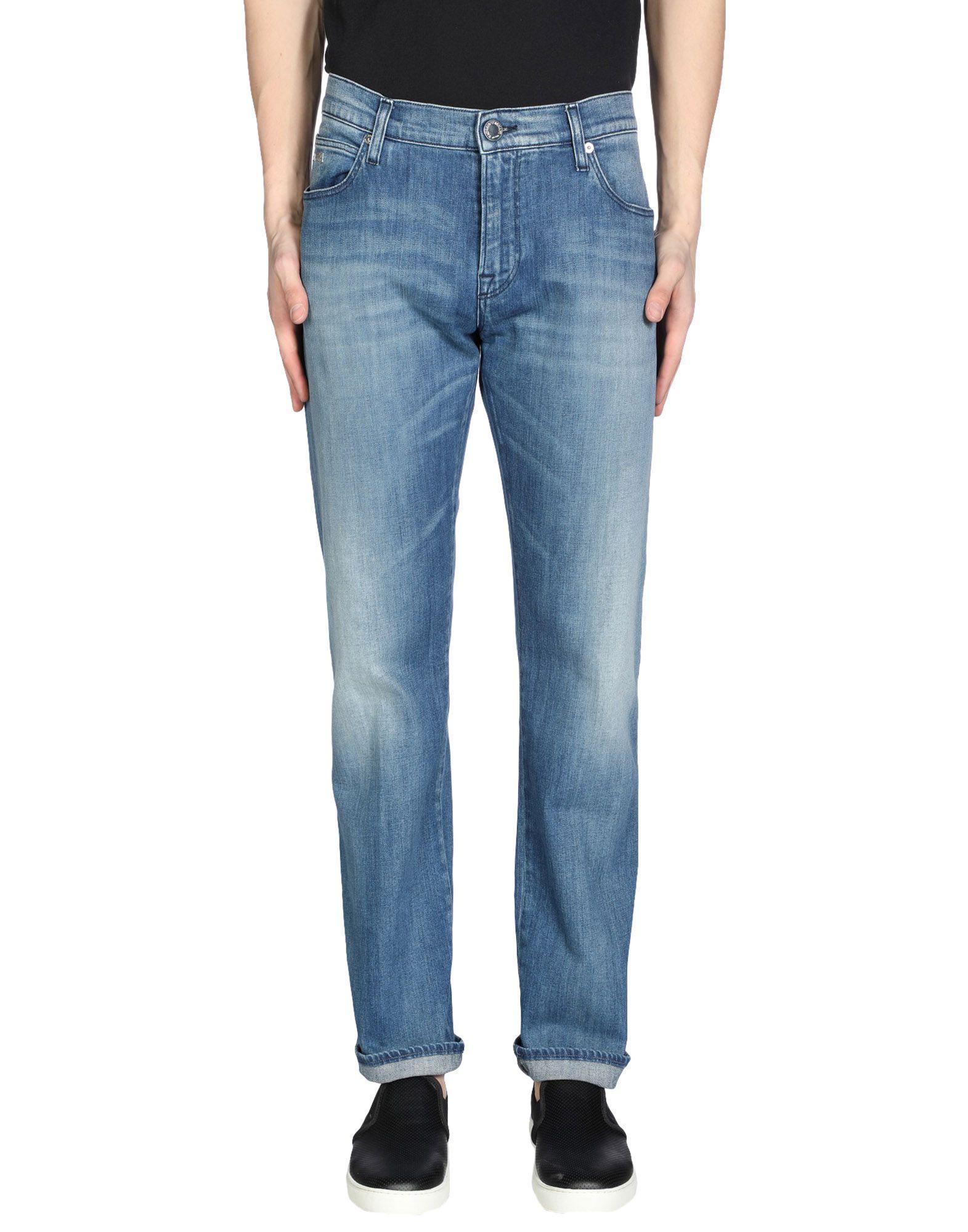 Emporio Armani Denim Pants In Blue
