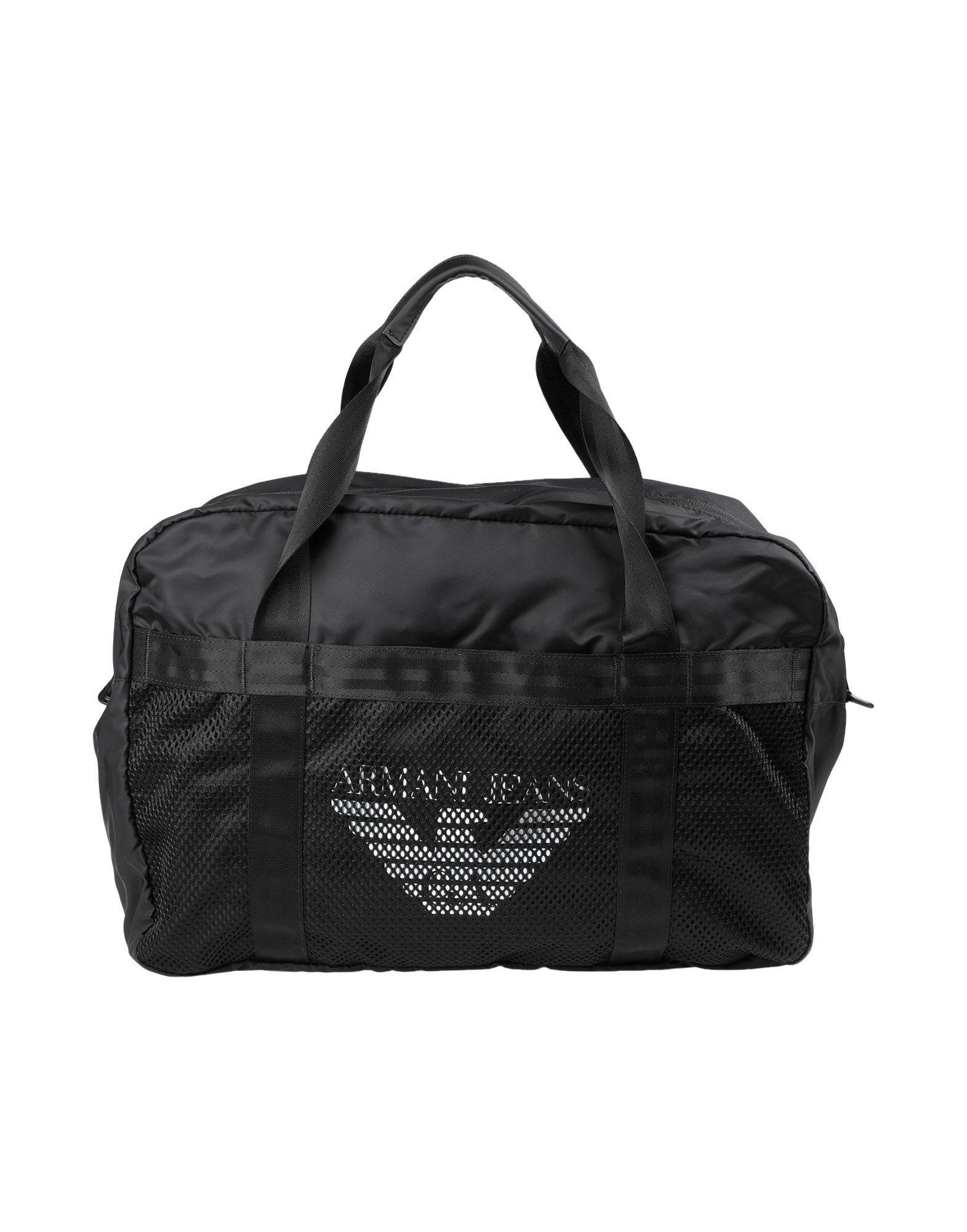 Armani Jeans Travel & Duffel Bag In Black