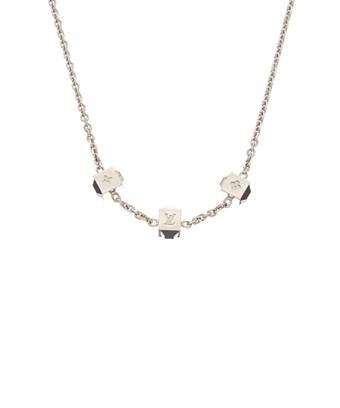 Louis Vuitton Silver-tone Gamble Necklace In Nocolor