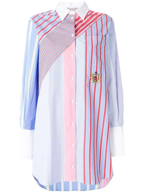 Tommy Hilfiger Hilfiger Collection Striped Shirt Dress - Blue