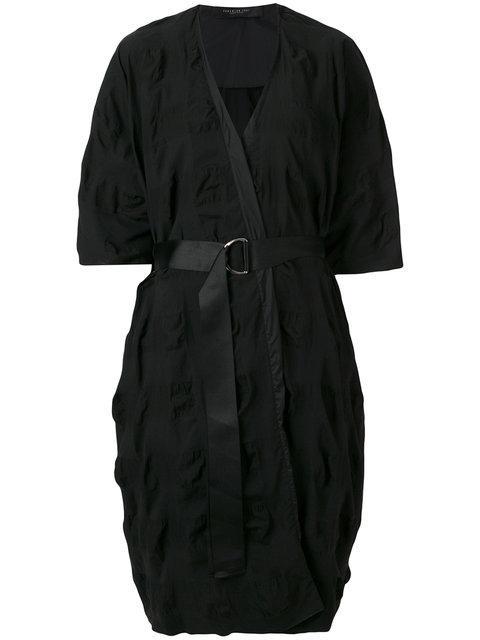 Federica Tosi Tie Waist Wrap Dress - Black
