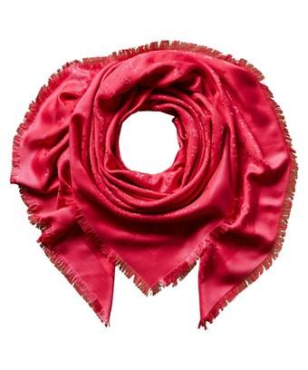 Louis Vuitton Hot Pink Monogram Silk & Wool-blend Shawl In Nocolor