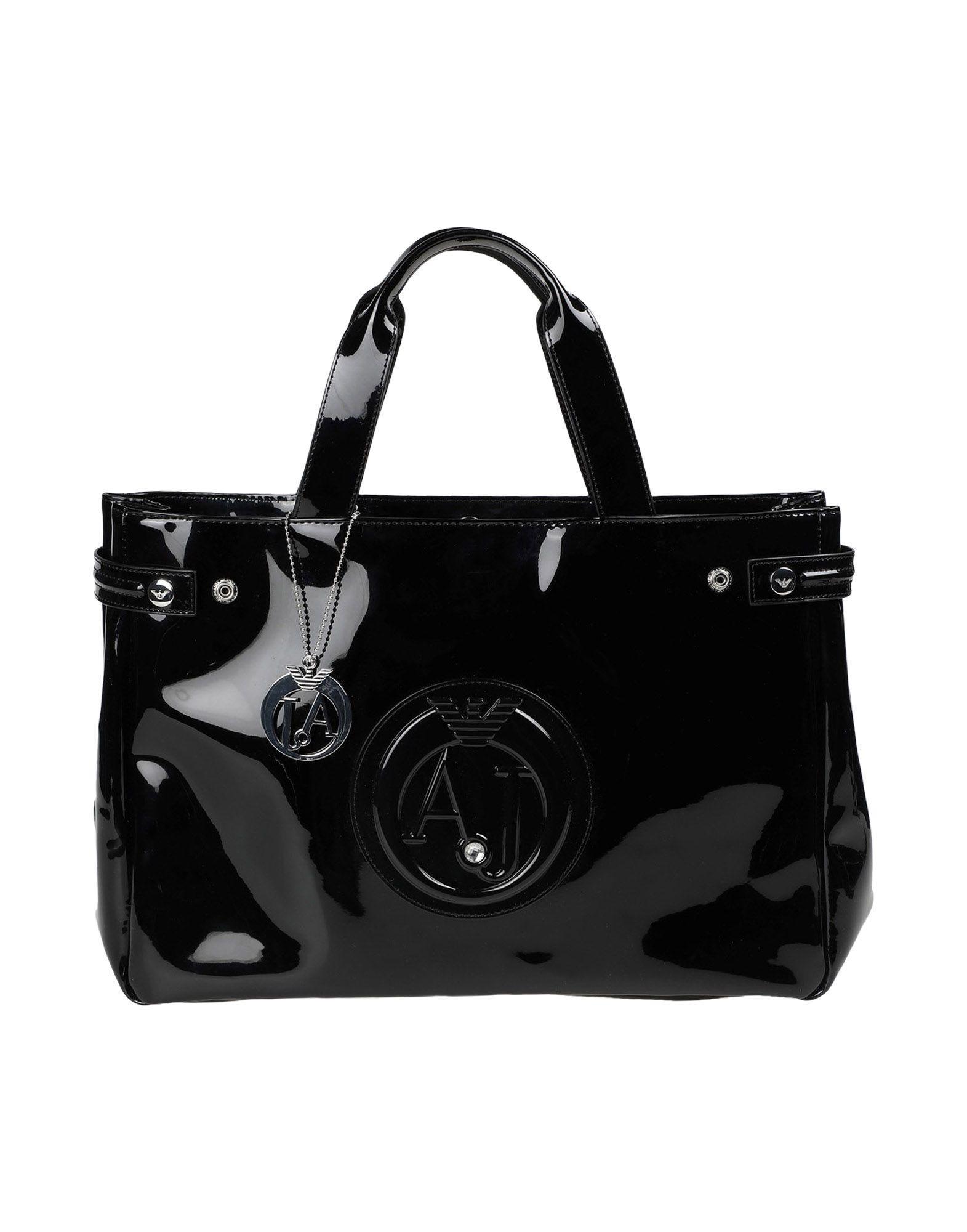 Armani Jeans Handbags In Black