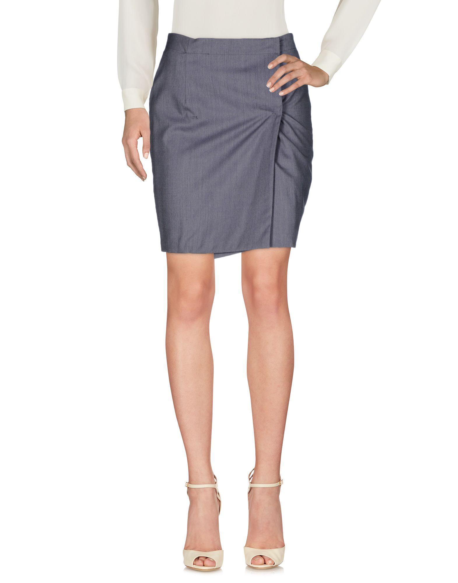 Costume National Knee Length Skirt In Grey