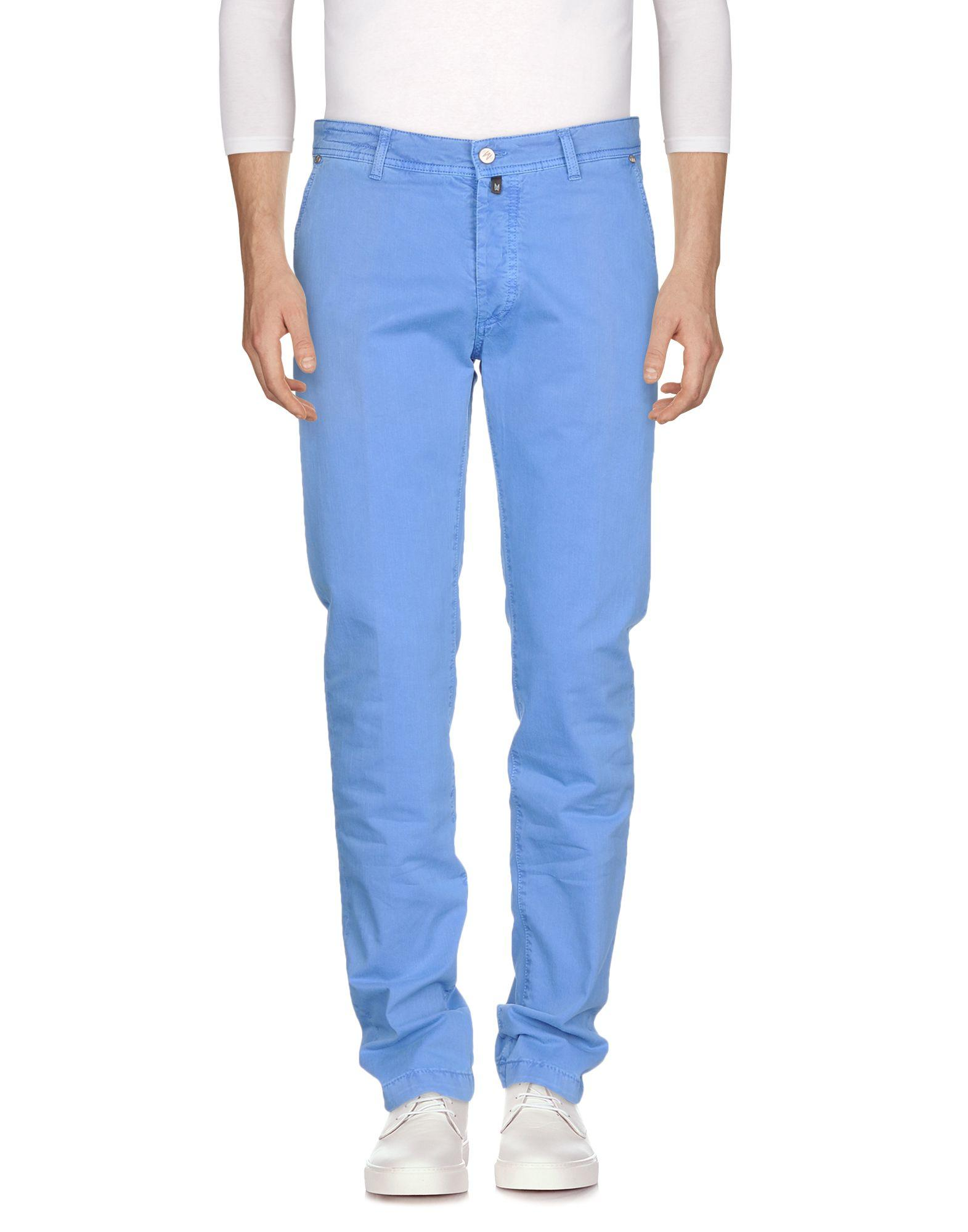 Marco Pescarolo Denim Pants In Pastel Blue