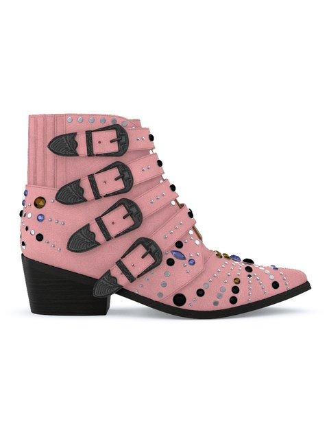 Toga Aj006 Elvis Boots In Pink