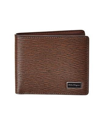 Salvatore Ferragamo International Leather Bifold Wallet In Brown