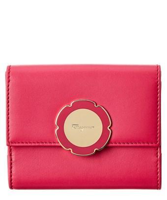 Salvatore Ferragamo Flower French Wallet In Pink