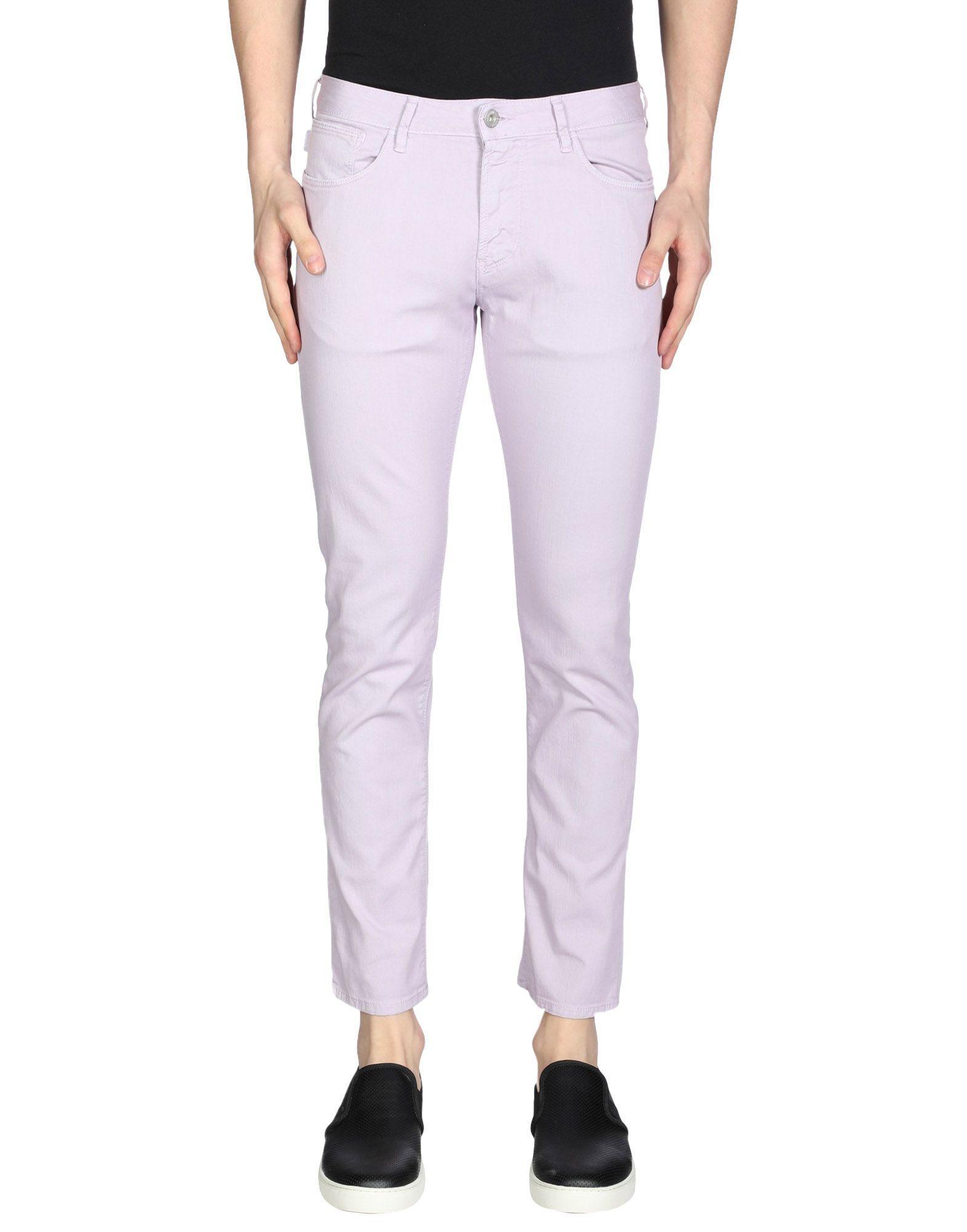 Armani Jeans Denim Pants In Lilac