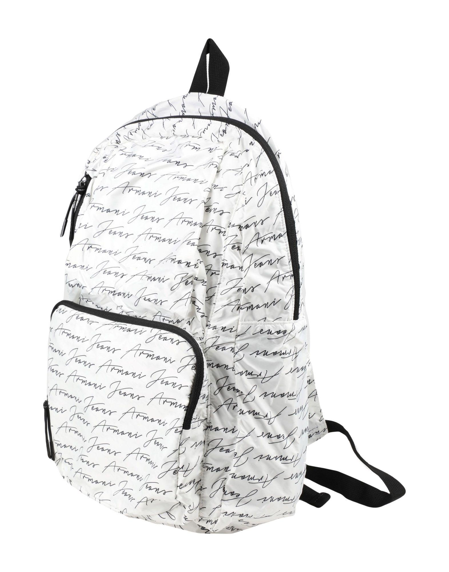 Armani Jeans Backpack & Fanny Pack In White