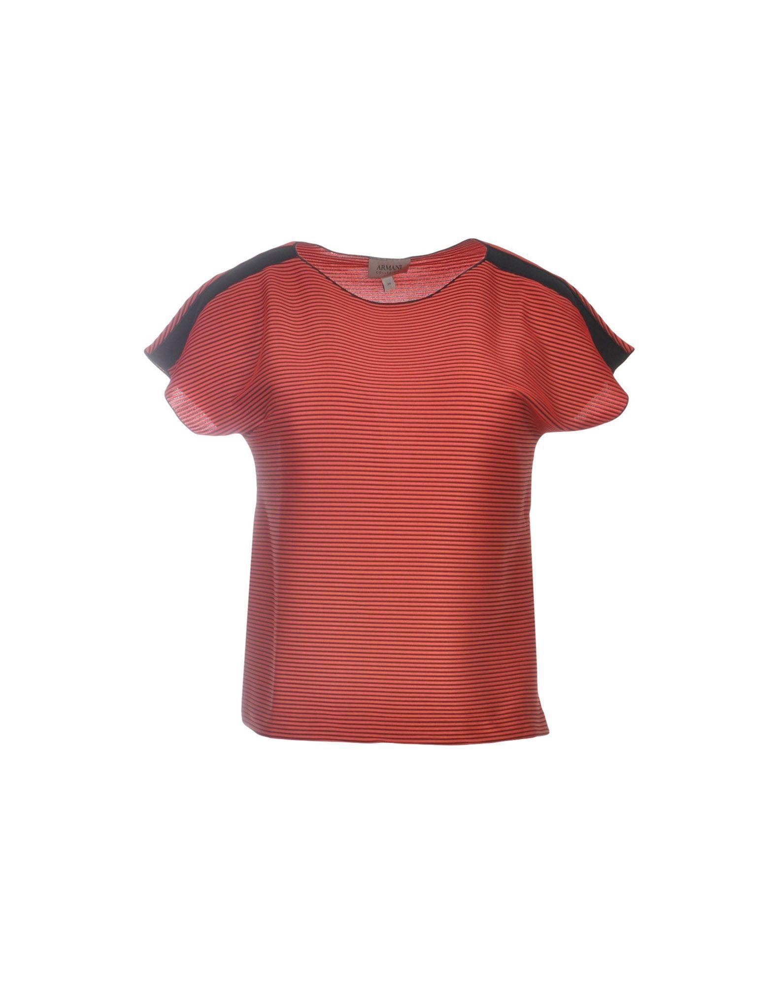 Armani Collezioni T-shirt In Red