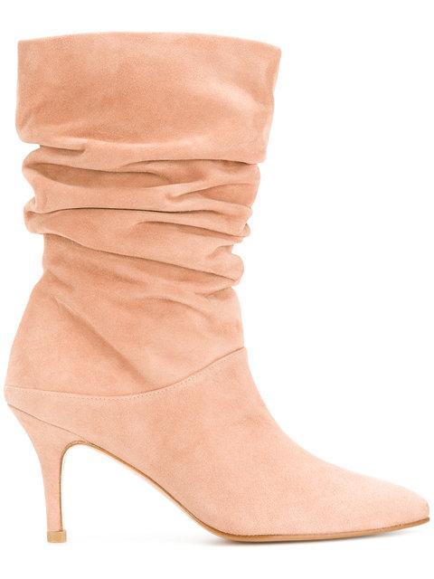 Stuart Weitzman Pull-on Boots - Pink & Purple
