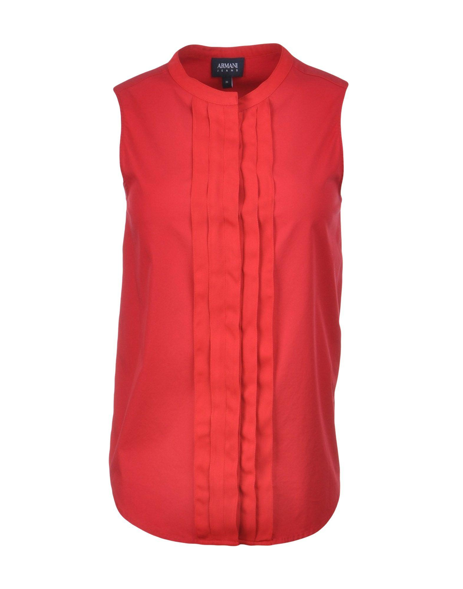 Armani Jeans Blouse In Red