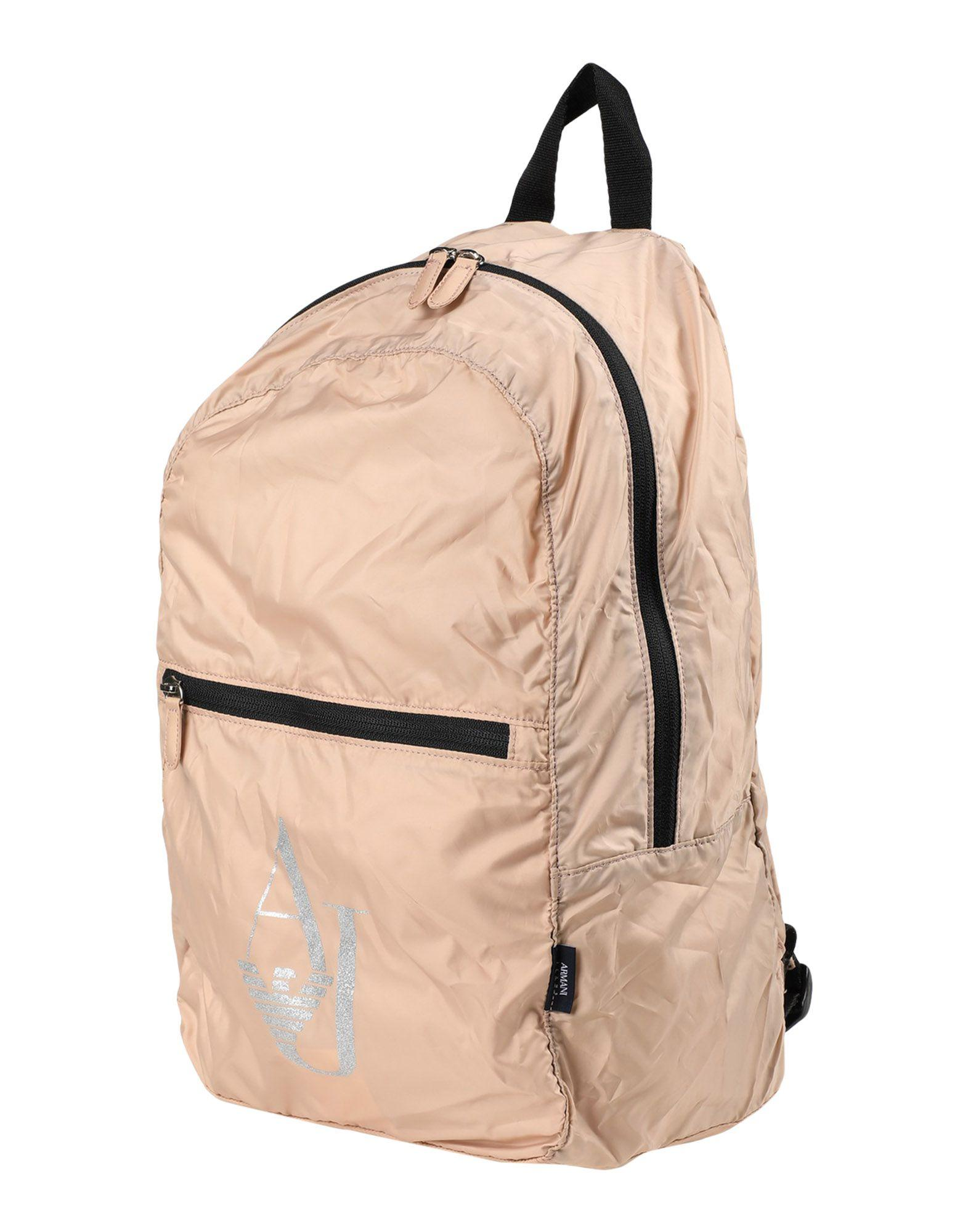 Armani Jeans Backpack & Fanny Pack In Beige