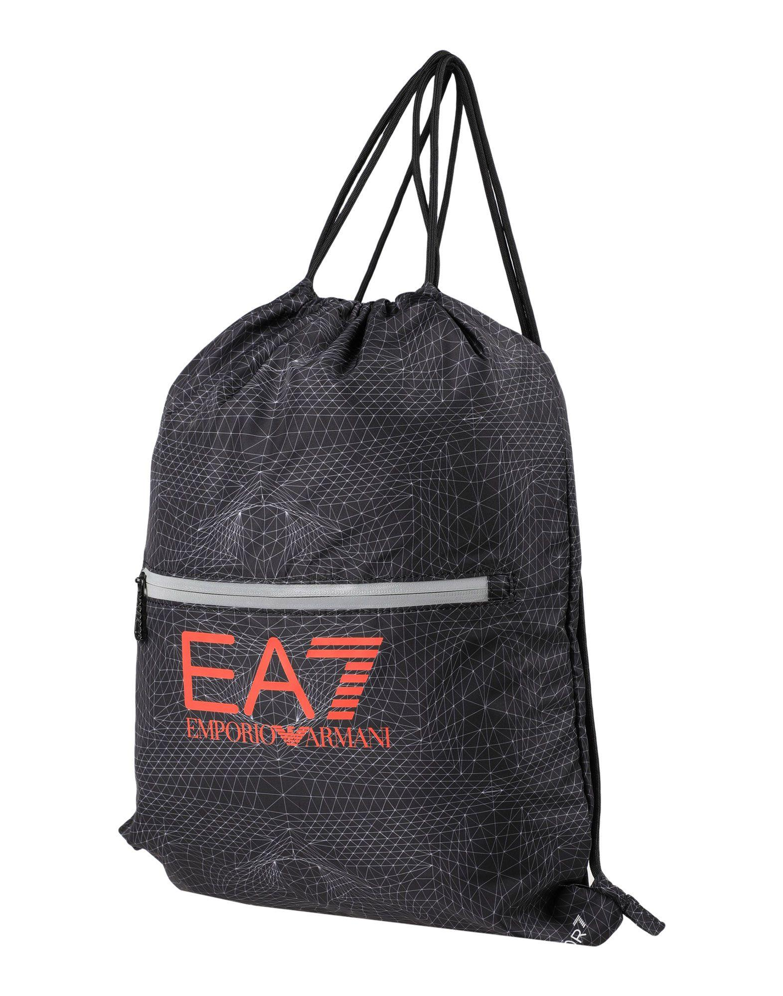 Ea7 Backpack & Fanny Pack In Dark Blue