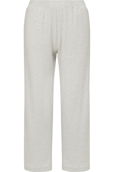 Skin Noelle Ribbed Stretch-pima Cotton And Modal-blend Pajama Pants In Stone