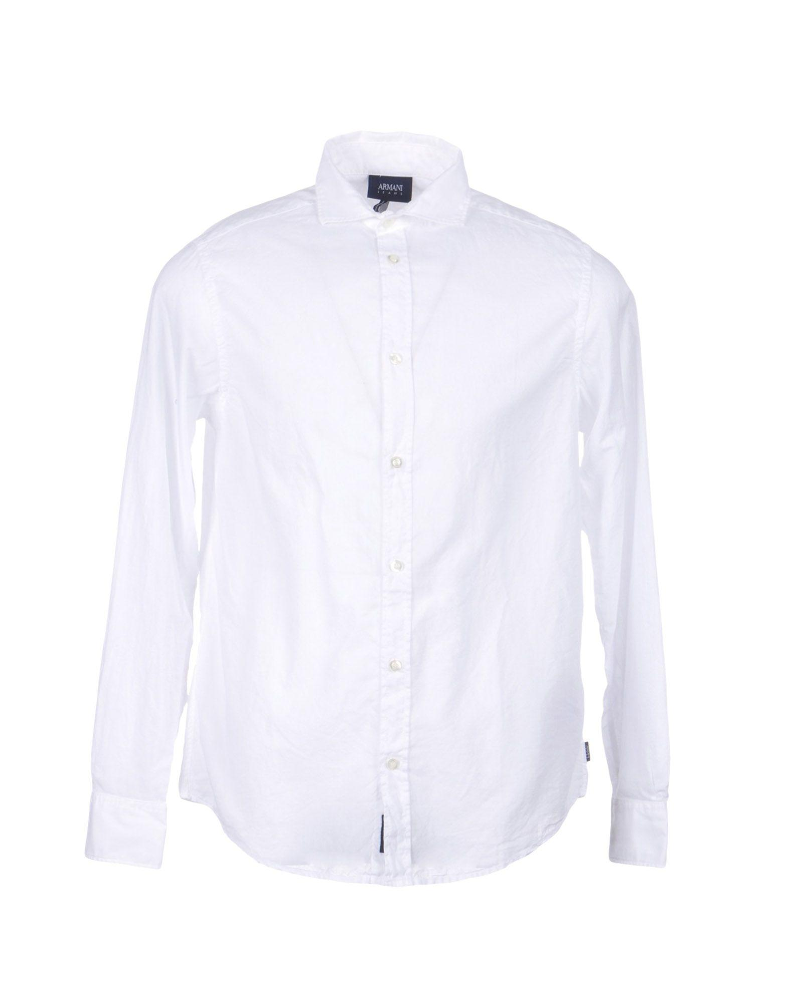 Armani Jeans Solid Color Shirt In White