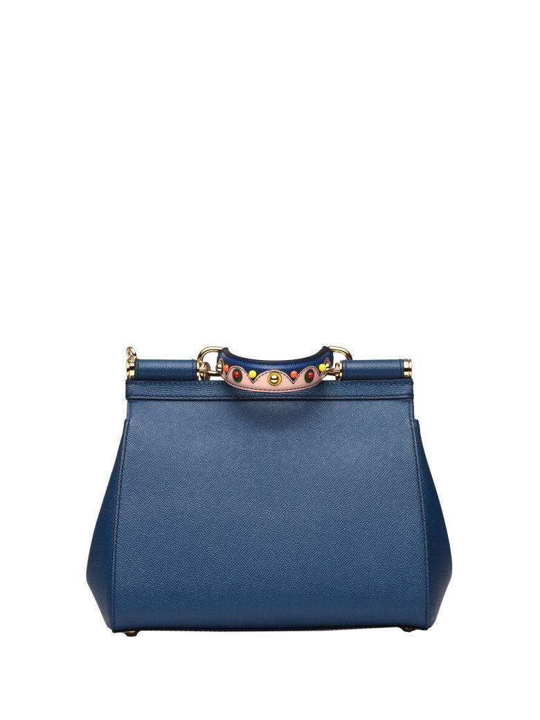 Dolce & Gabbana Medium Sicily Blue Bag In Royal Blue