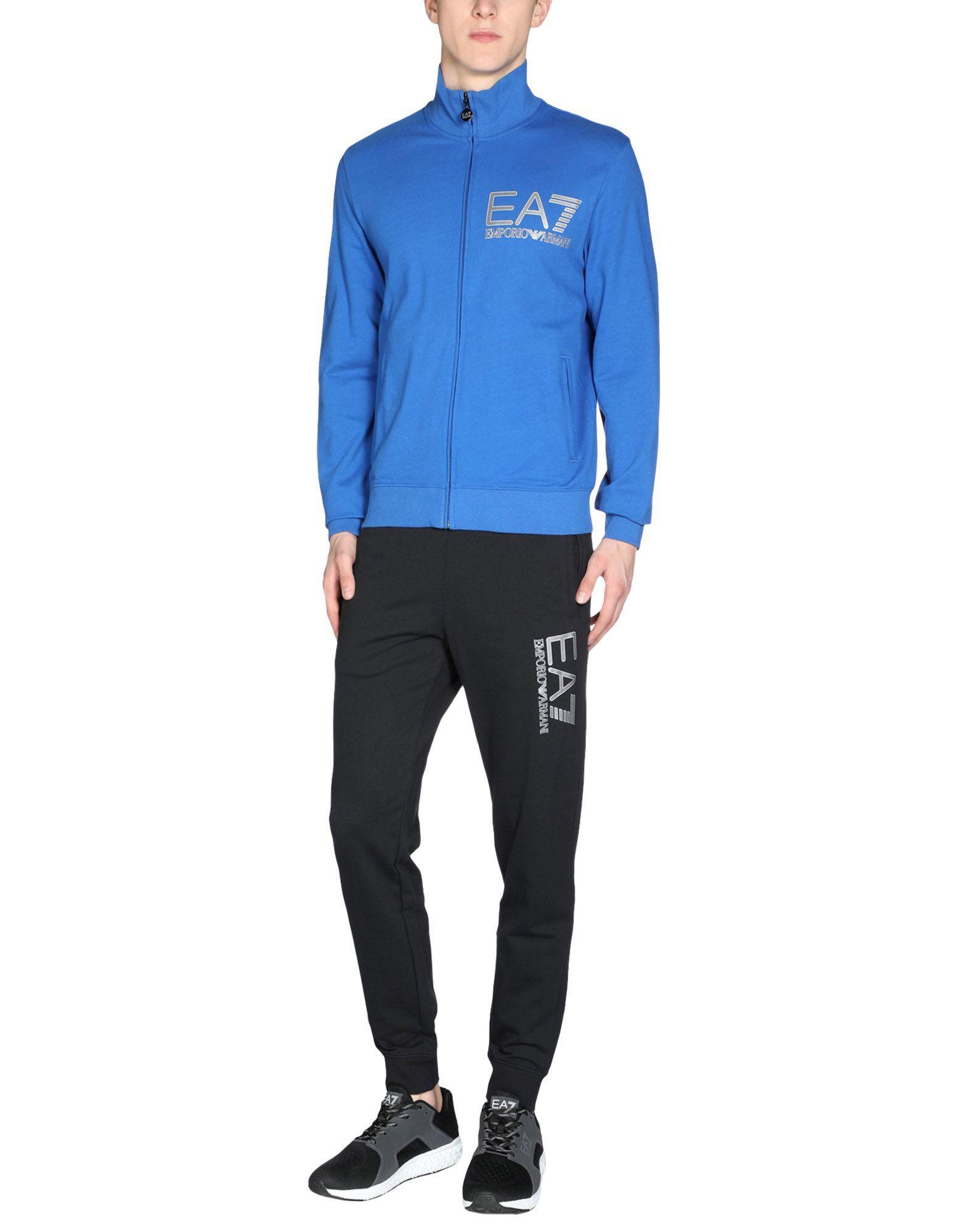 Emporio Armani Sweatsuit In Bright Blue