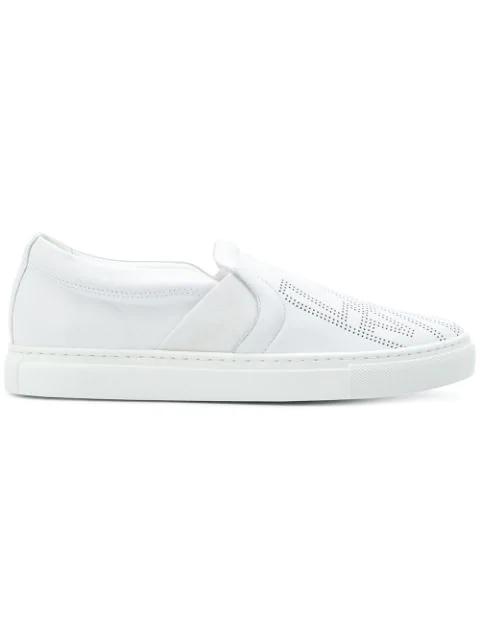 Lanvin Embossed Slip In White