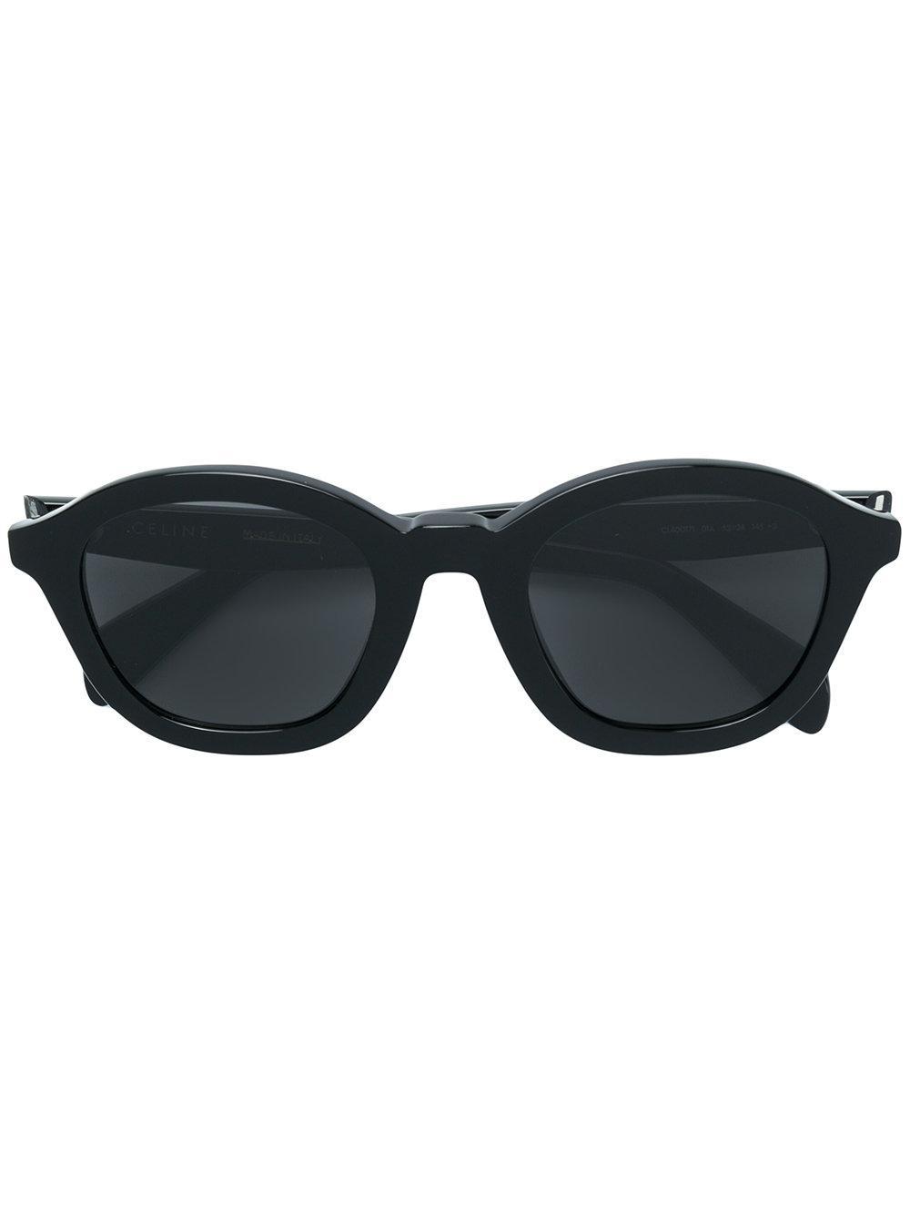 Celine Eyewear Round Sunglasses - Black