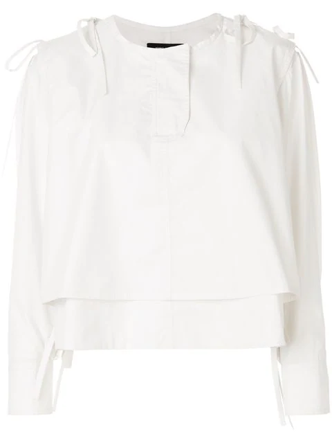 Isabel Marant Tie Detail Shirt In White