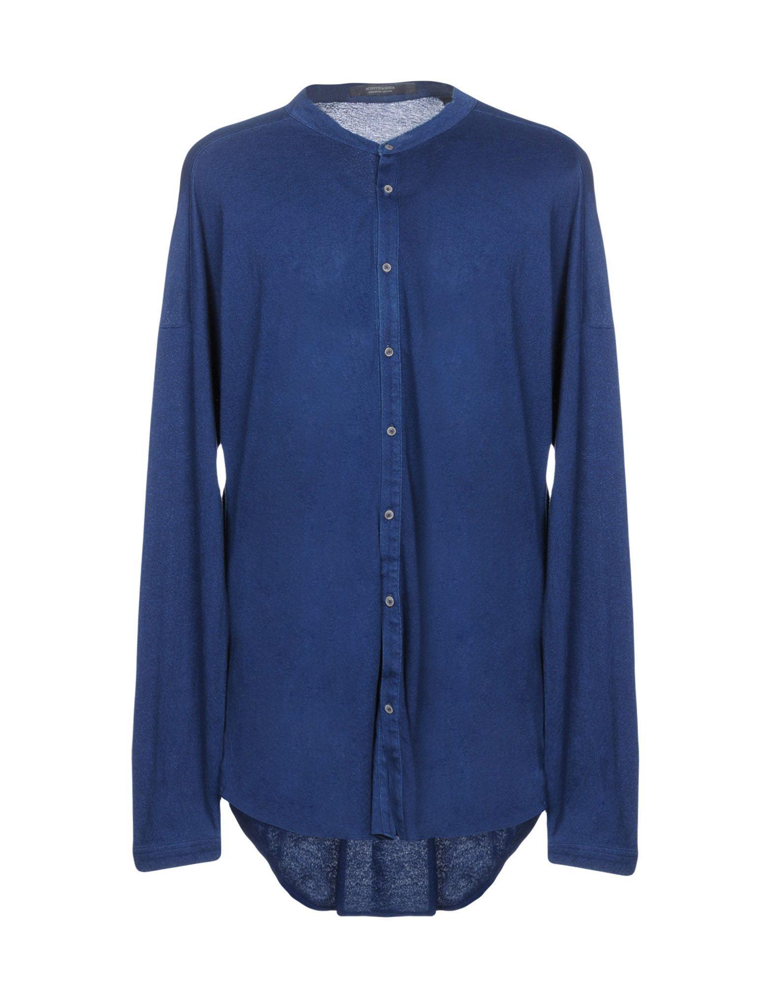 Scotch & Soda Solid Color Shirt In Dark Blue