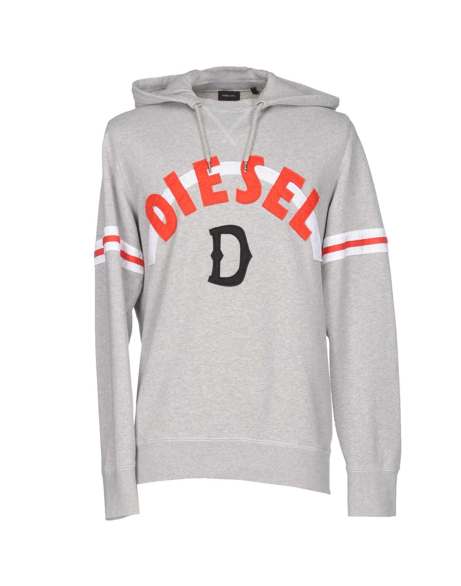 Diesel Sweatshirts In Light Grey