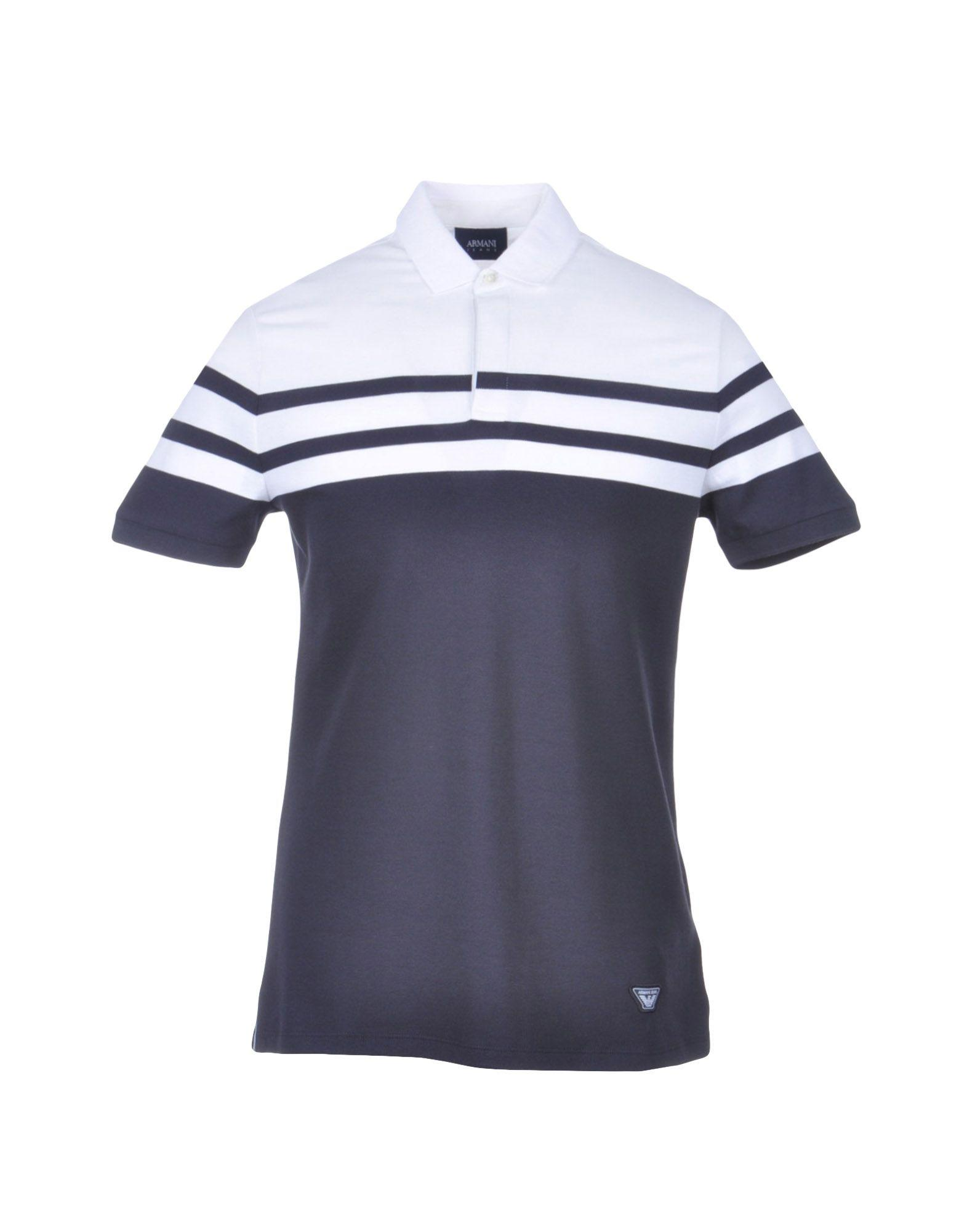 Armani Jeans Polo Shirt In Blue