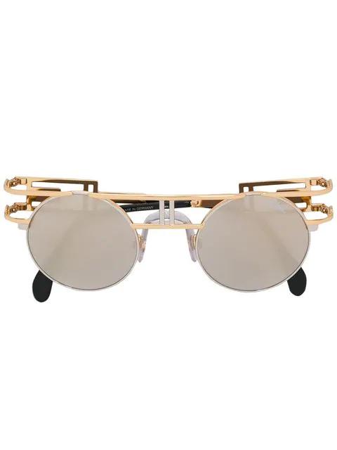 Cazal Round Frame Sunglasses In Black