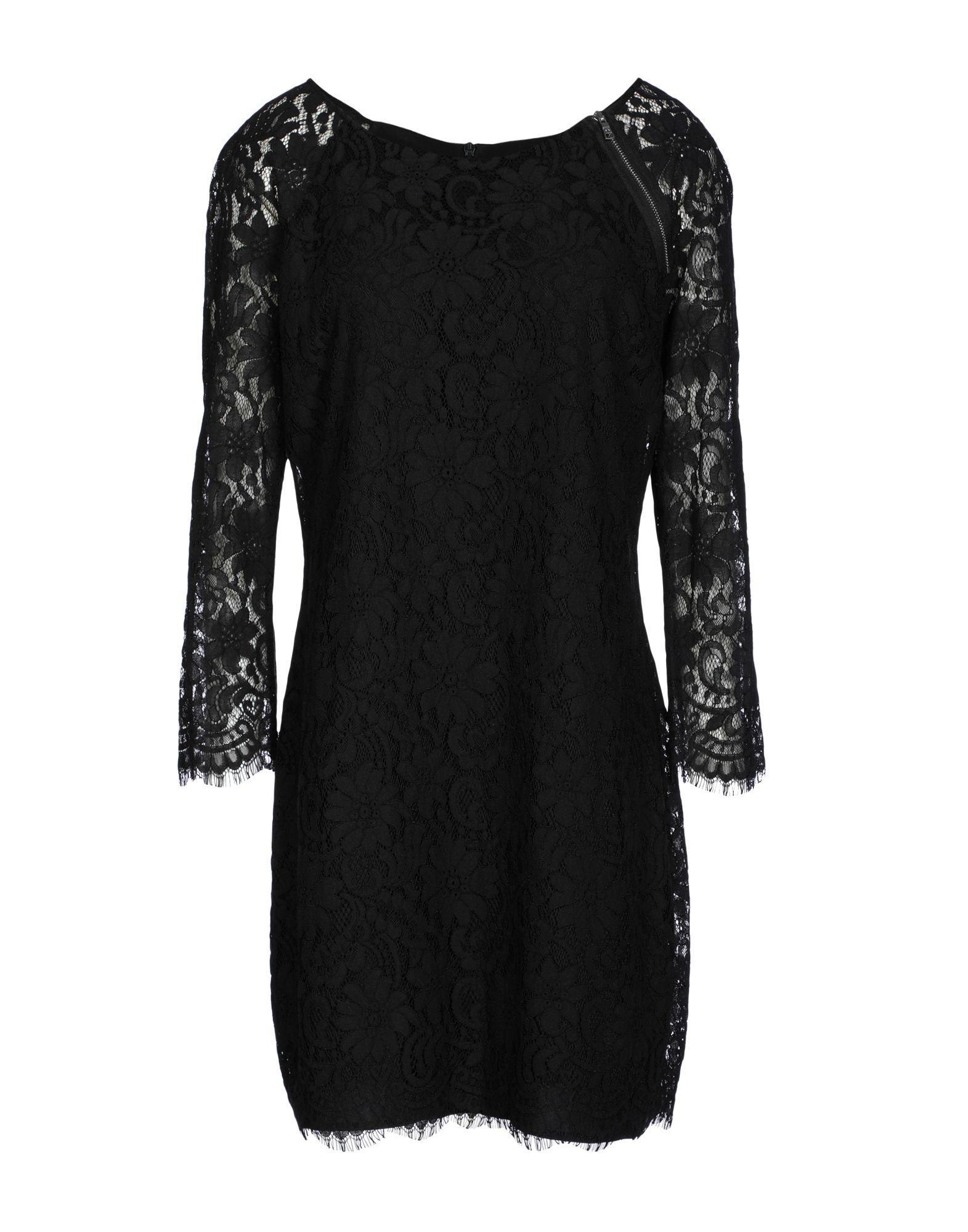 Armani Exchange Short Dresses In Black