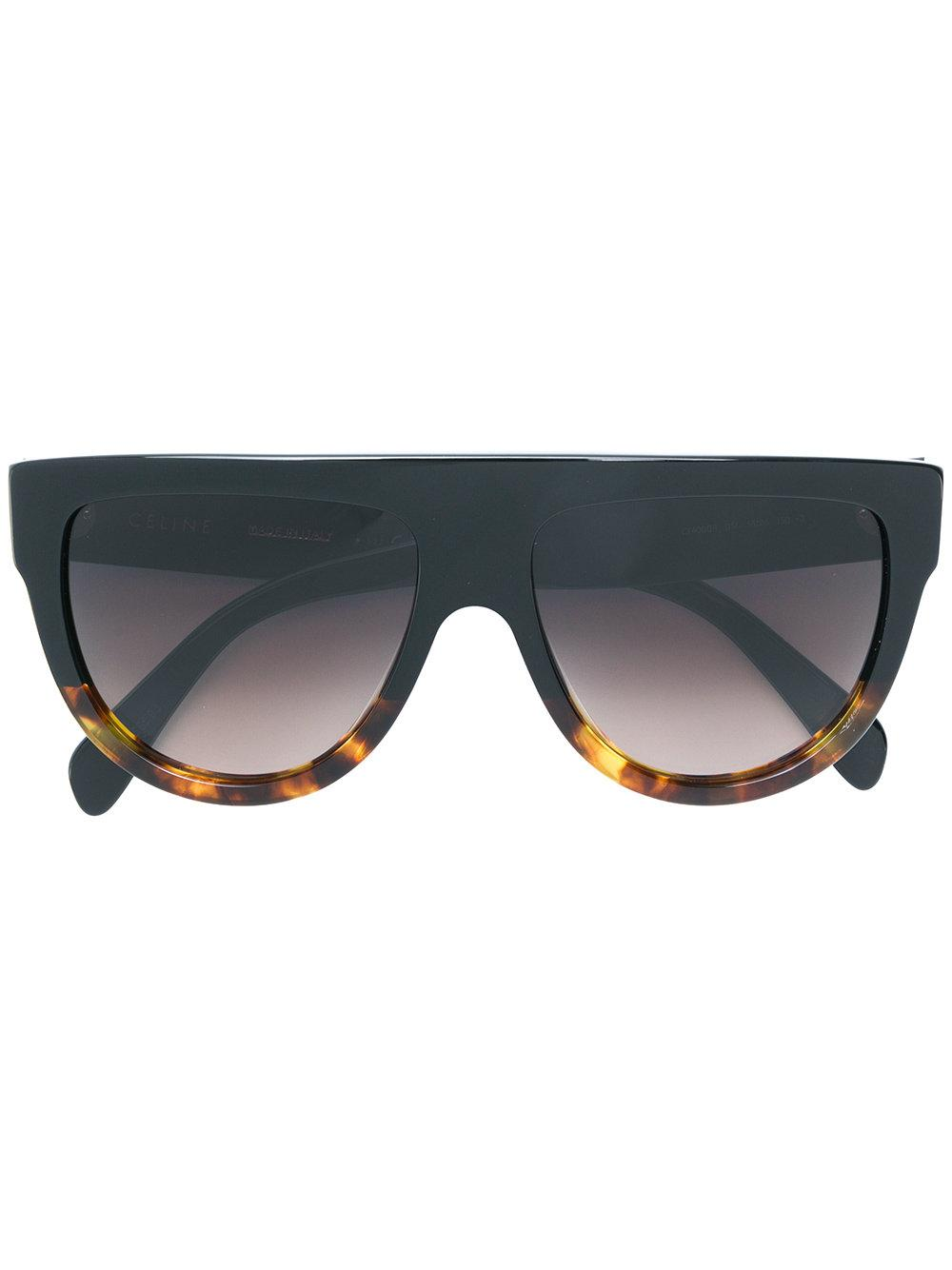 Celine Flat Top Aviator Sunglasses In Black