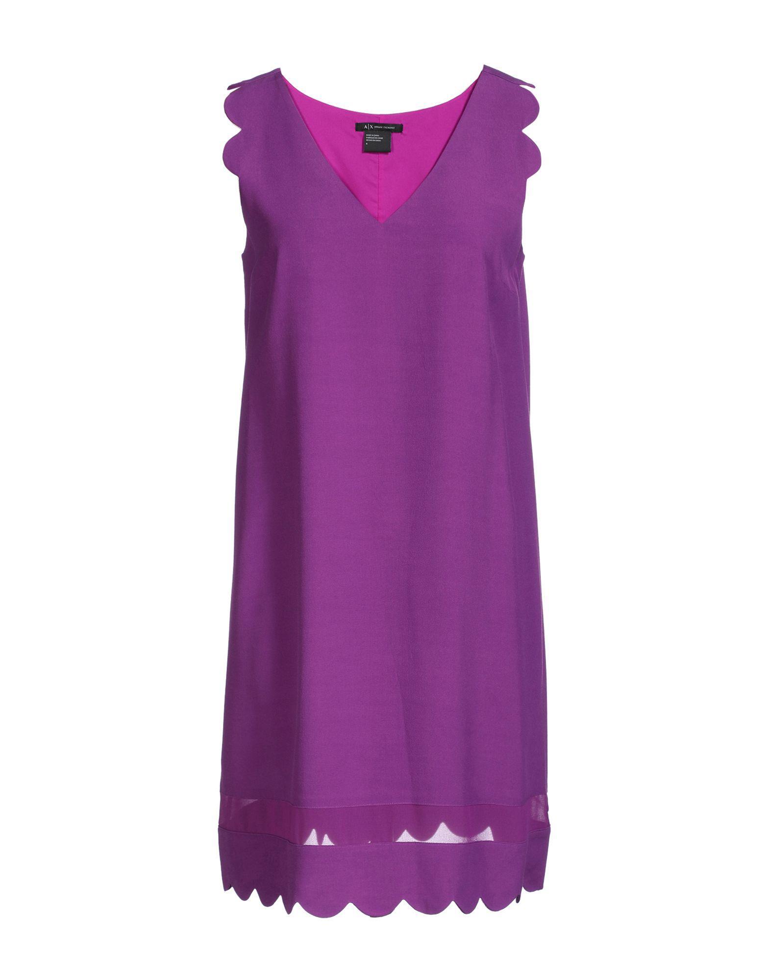 Armani Exchange Short Dresses In Purple