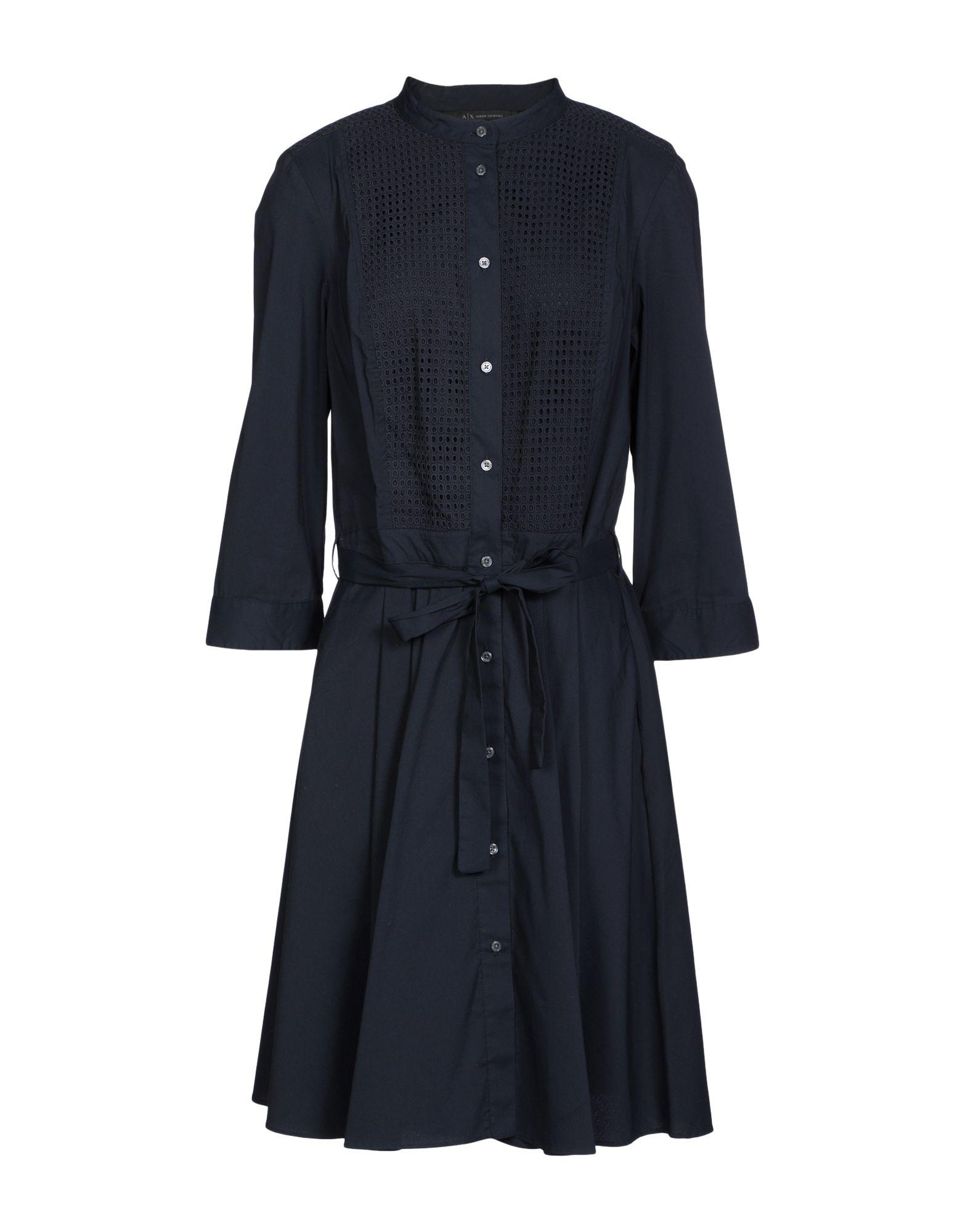 Armani Exchange Knee-length Dresses In Black