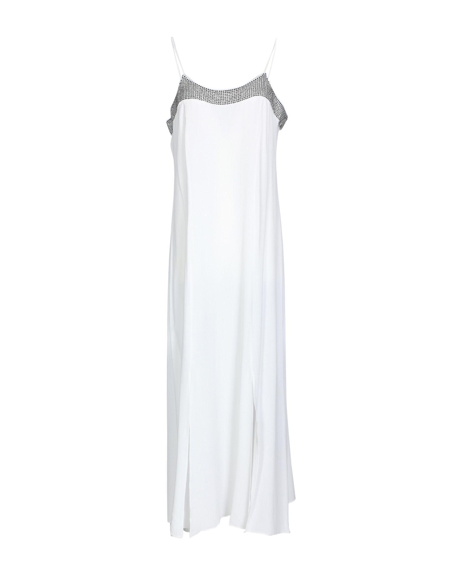 Armani Exchange Midi Dress In White