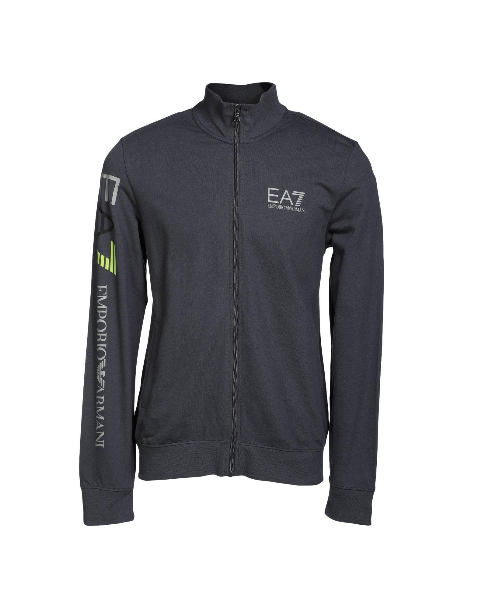 Ea7 Sweatshirt In Steel Grey
