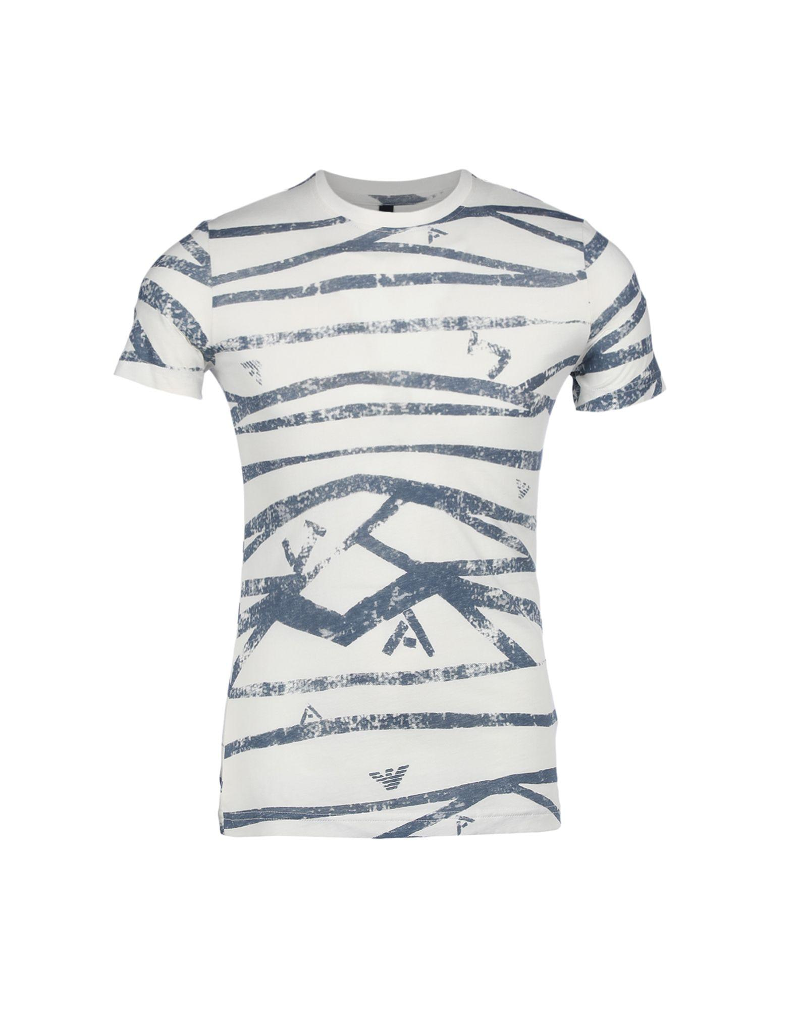 Armani Jeans T-shirt In Ivory