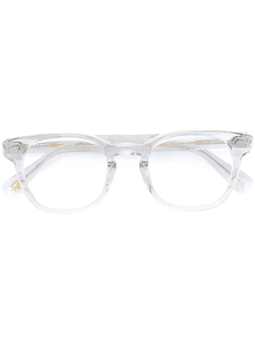 Moscot Round Frame Glasses In White