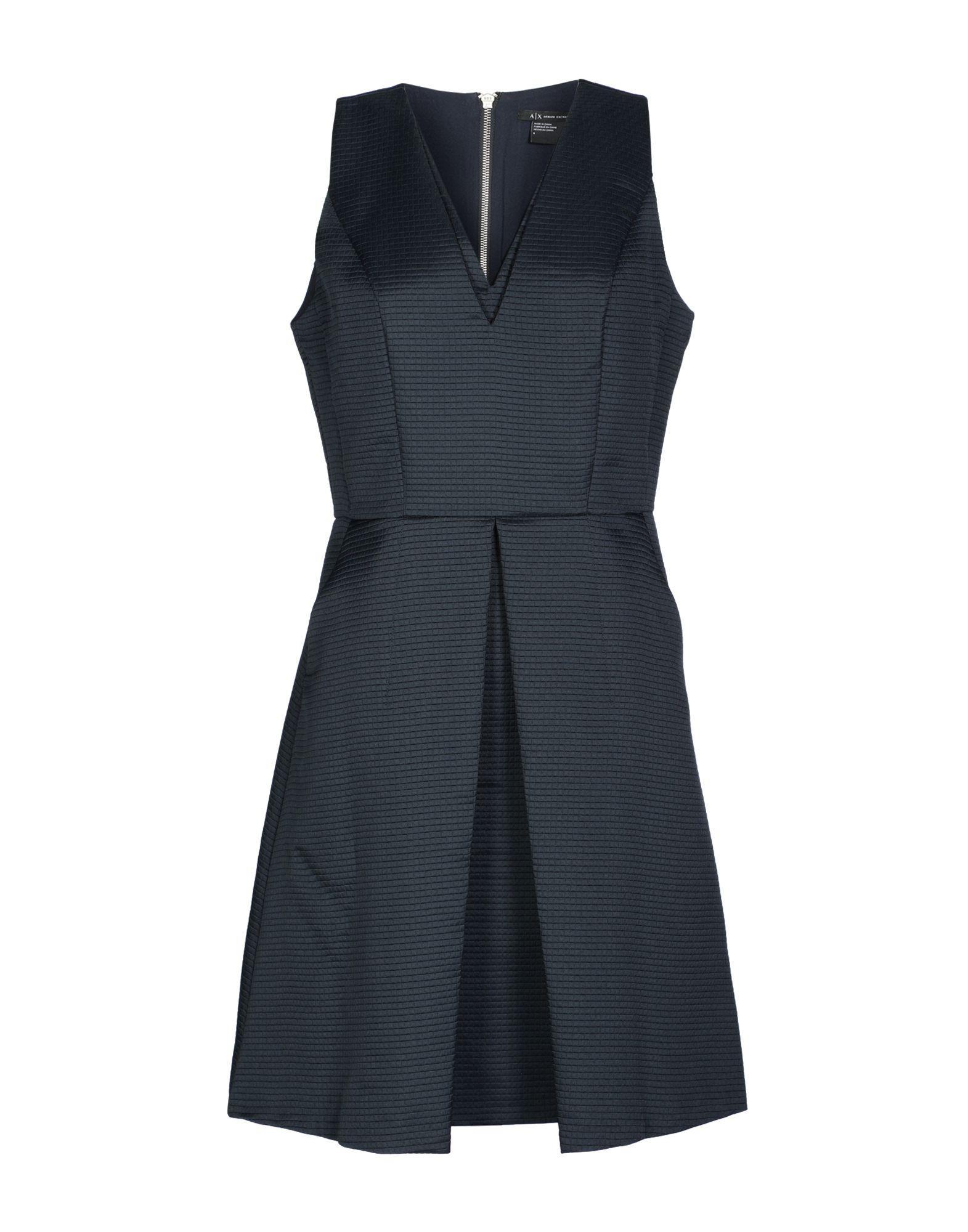 Armani Exchange Short Dress In Dark Blue