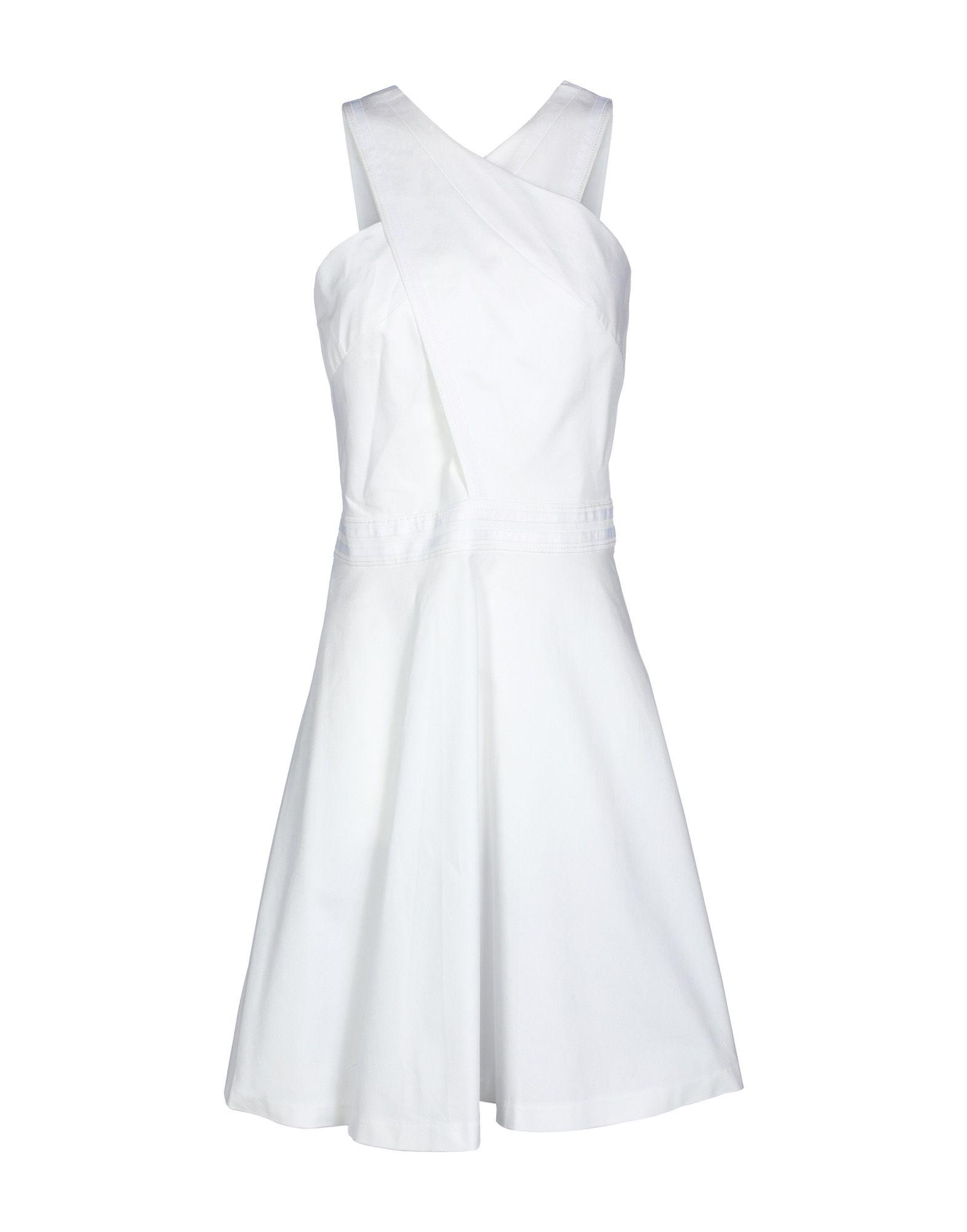 Armani Exchange Knee-length Dress In White