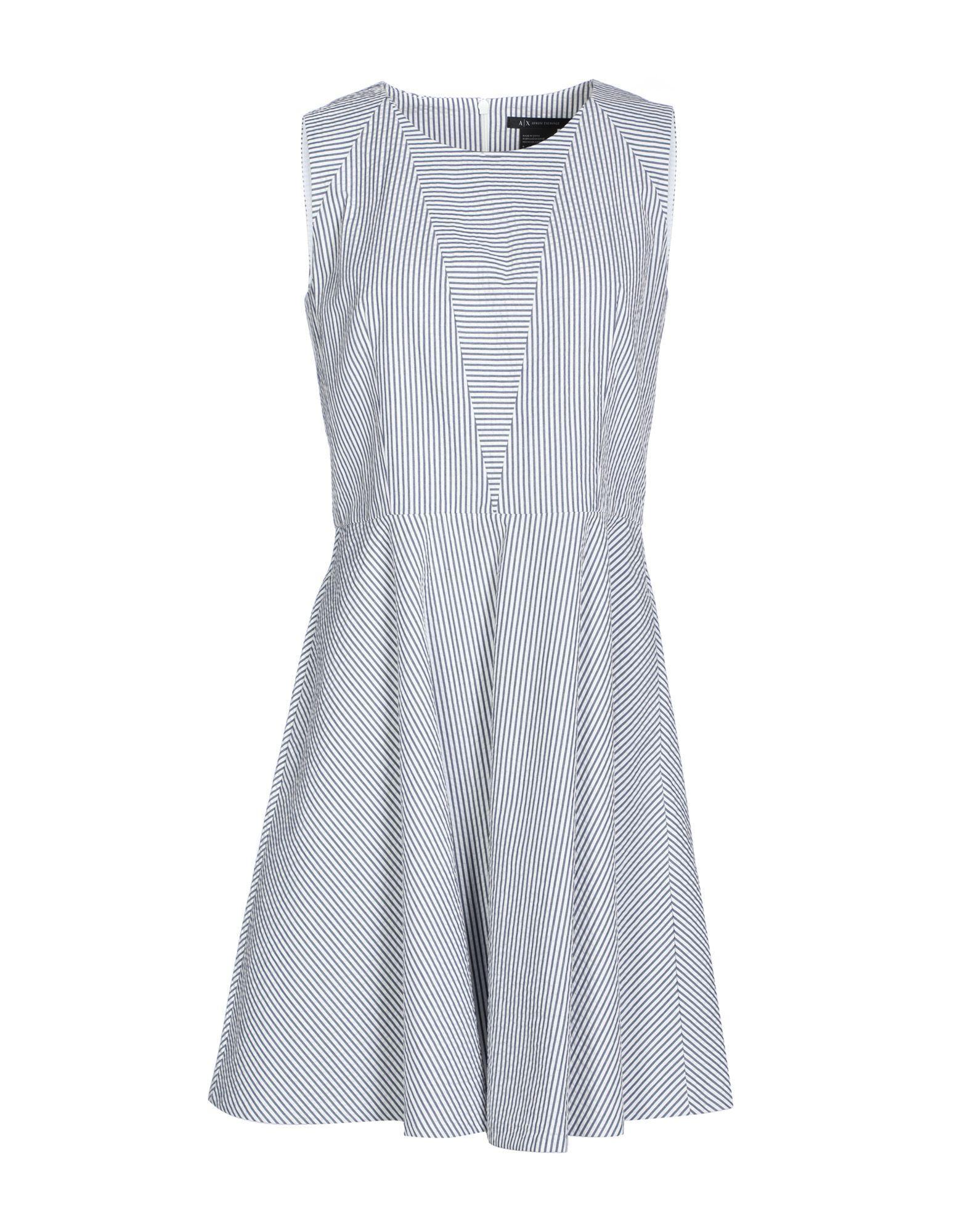 Armani Exchange Short Dress In Blue