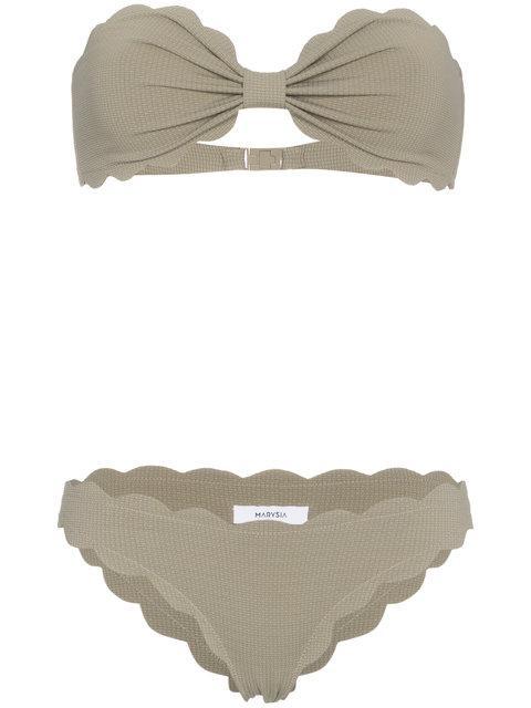 Marysia Green Antibes Strapless Bikini