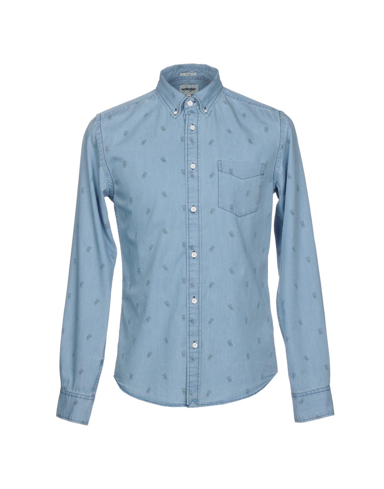Wrangler Denim Shirt In Blue