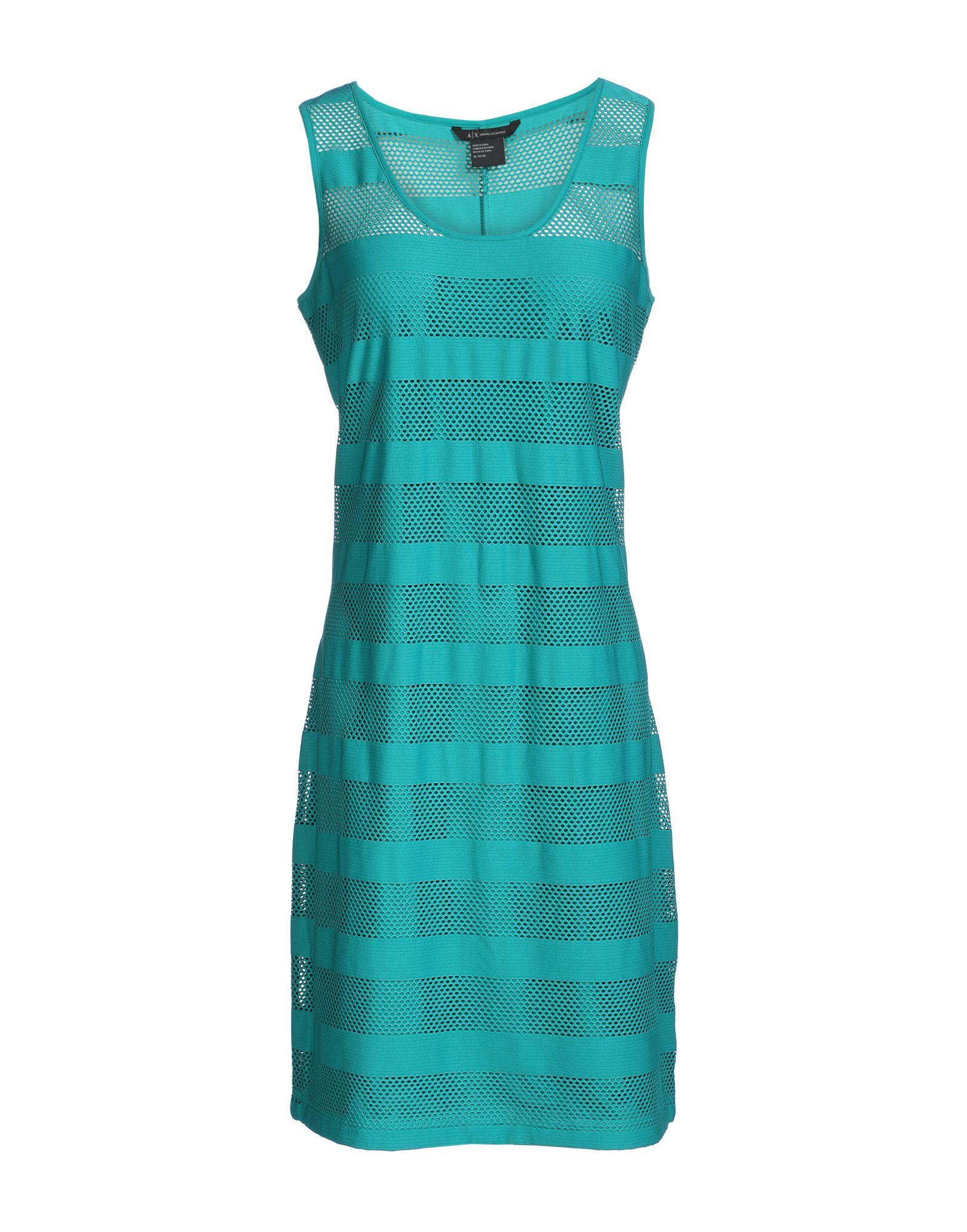 Armani Exchange Knee-length Dresses In Emerald Green