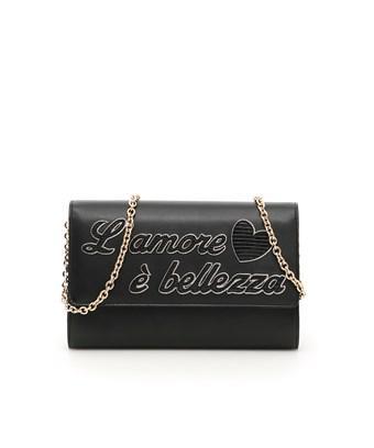 Dolce & Gabbana Dolce E Gabbana Women's  Black Leather Clutch