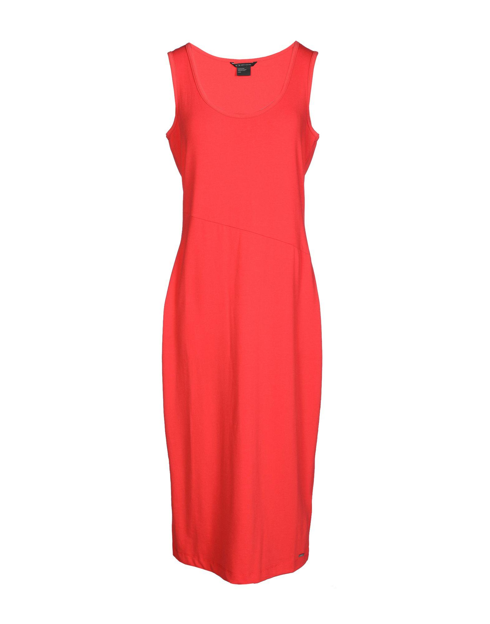 Armani Exchange 3/4 Length Dresses In Coral