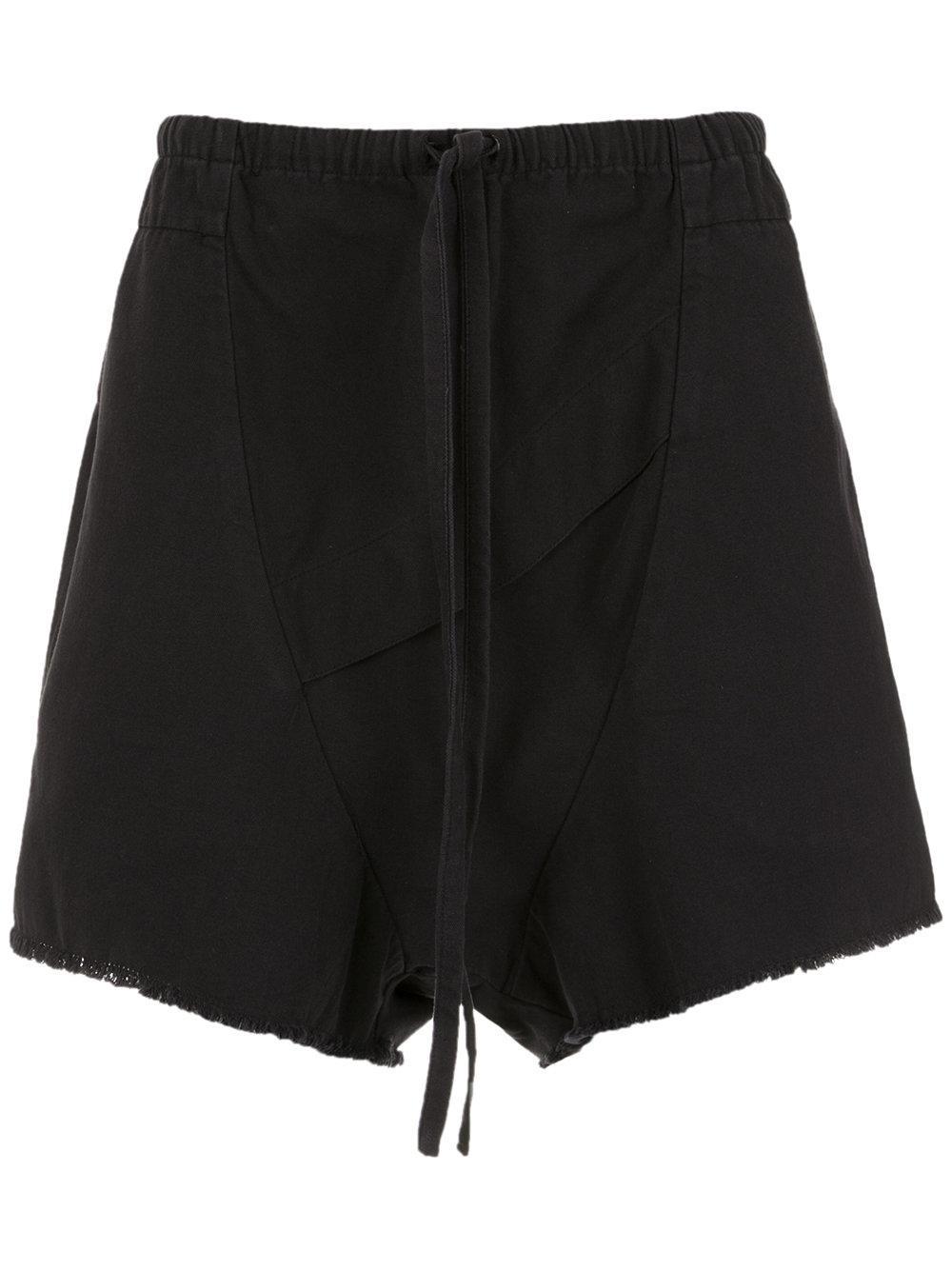 Osklen Over Drop Crotch Shorts - Black