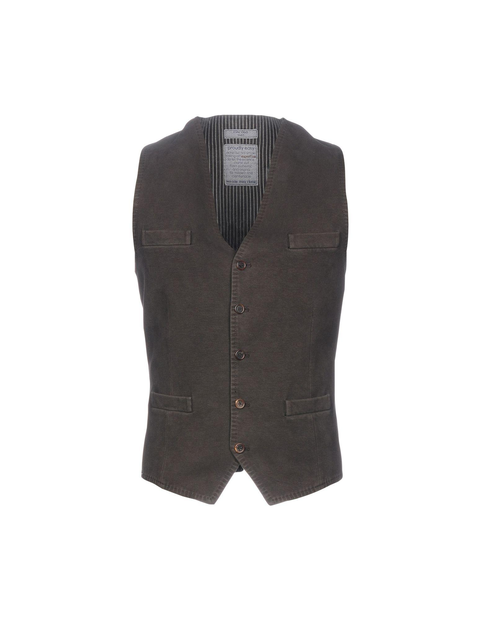 Circolo Suit Vest In Dark Brown